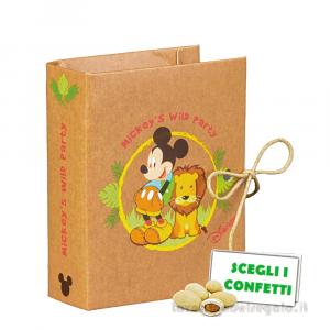 Portaconfetti libro Mickey Savana Disney 7x6x3 cm - Scatole bimbo