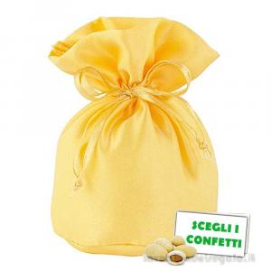 Portaconfetti Giallo Oro in raso 7x12 cm - Sacchetti matrimonio