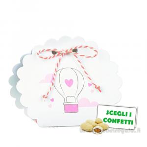 Portaconfetti Borsetta Balloon Rosa 5.8x4x8.5 cm - Scatole battesimo bimba
