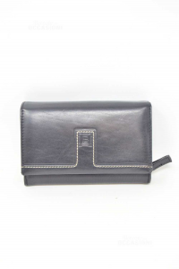 Wallet Woman Laura Biagiotti True Leather Black 15x10 Cm