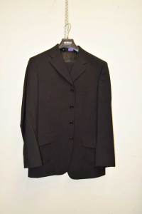 Complete Jacket + Trousers Man Versace Classic V2 Size.52 Black Wool / Viscose