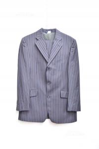 Complete Man Jacket + Trousers Joop! Size.48 Black Pinstriped