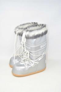 Après-ski Boot Silver With Fur N° 38 / 40