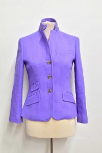 Jacket Woman Les Copains Purple Size.4