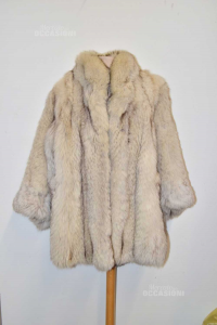 Fox Fur White Size.m / L Handcrafted