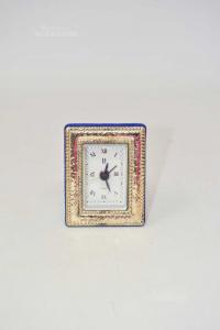 Mini Table Clock In Silver 5x6.5 Cm