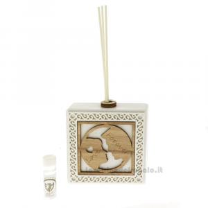 Profumatore Coppia Sposi in resina e legno 11 cm - Bomboniera matrimonio
