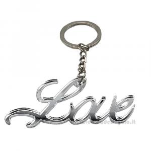 Portachiavi Love in plexiglass 7 cm - Bomboniera matrimonio