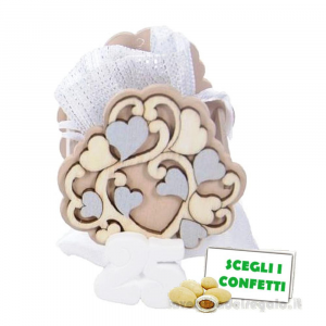 Portaconfetti Albero della Vita Argento 25 anni Anniversario 7x4x8 cm - Sacchetti nozze d'argento