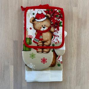 Set regalo presina+guanto+canovaccio Orsetto