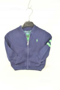 Felpa Bambino Polo Ralph Lauren 2 anni Blu / Verde 100% Cotone I