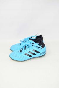 Scarpe Da Calcio Adidas Predator N 31 Azzurre Nere