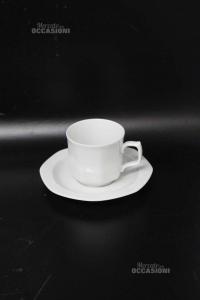 Tazze Da Caffè Piccole Ceramica Bianca Lelthamm Bavaria 5 Pezzi
