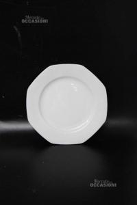 Piattini Dolce Ceramica Bianca Lelthamm Bavaria 10 Pezzi