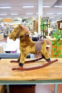 Cavallo A Dondolo Peluche 74 X 67 Cm