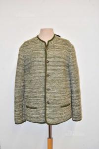Giacca Tirolese Donna Exclusiv Design Salzburg Verde Bianca