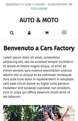 Storeden theme - mobile preview - Cars Factory