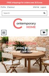 Storeden theme - mobile preview - Contemporary Home