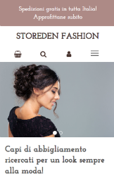 Storeden theme - mobile preview - Essential Theme - Rose