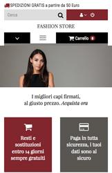 Storeden theme - mobile preview - Fashion Week