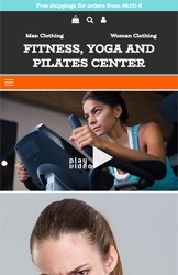 Storeden theme - mobile preview - Fitness Addicted