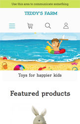 Storeden theme - mobile preview - Kid's Joy