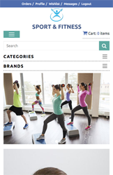 Storeden theme - mobile preview - Sport & Fitness