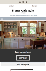 Storeden theme - mobile preview - Vintage Home Style
