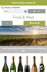 Storeden theme - mobile preview - Wine Tasting